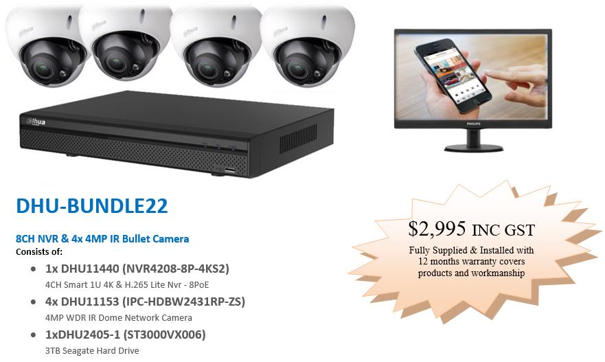 4x-Dahua-IP-dome-cameras