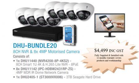 8x Dahua IP dome cameras