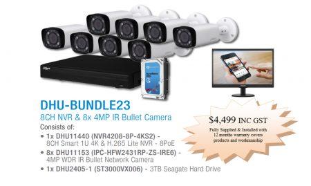 8x Dahua IP bullet cameras