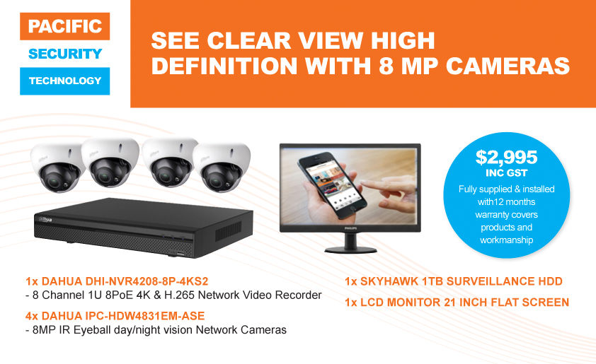 High Definition With 8MP Cameras